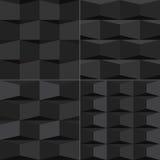 Modello geometrico senza cuciture nero del fondo Fotografia Stock