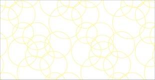 Modello giallo astratto moderno semplice dei cerchi Immagine Stock Libera da Diritti
