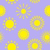 Modello giallo del sole Immagine Stock Libera da Diritti