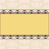 Modello giallo dell'invito dell'ornamento di rettangolo Fotografia Stock Libera da Diritti