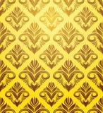 Modello giallo dell'ornamento dell'oro Fotografie Stock