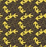 Modello giallo delle frecce Fotografia Stock Libera da Diritti