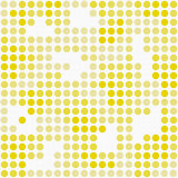 Modello giallo e bianco R di Dot Mosaic Abstract Design Tile di Polka royalty illustrazione gratis
