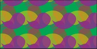 Modello giallo e verde porpora astratto moderno semplice della curva Fotografie Stock Libere da Diritti