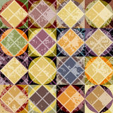 Modello giallo geometrico di lerciume Fotografie Stock