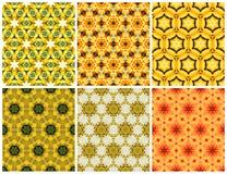 Modello giallo senza cuciture geometrico Fotografia Stock Libera da Diritti