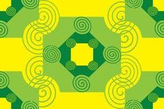 Modello giallo verde Fotografie Stock Libere da Diritti