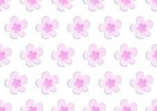 Modello giapponese rosa di fioritura di sakura della molla adorabile senza cuciture del papercut illustrazione vettoriale