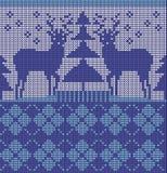 Modello giusto blu senza cuciture dell'isola Illustrazione di Stock