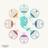 Modello globale di affari piani illustrazione di stock