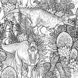 Modello grafico del dinosauro Immagini Stock Libere da Diritti