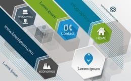 Modello grafico del modello-manifesto di progettazione di tecnologia di informazioni, brochur Fotografia Stock