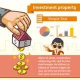 Modello grafico della proprietà di investimento con l'illustrazione Immagine Stock Libera da Diritti