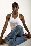 Modello grazioso dell'afroamericano fotografie stock libere da diritti