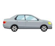 Modello grigio dell'automobile su fondo bianco Immagine Stock