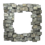 modello grigio di lerciume delle mattonelle della struttura 3d su bianco Fotografia Stock Libera da Diritti
