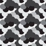 Modello grigio e bianco nero dei coriandoli illustrazione vettoriale