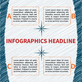 Modello impreciso di infographics Fotografia Stock Libera da Diritti