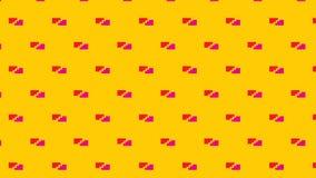 Modello incrinato astratto moderno semplice del mattone rosa e rosso Fotografia Stock Libera da Diritti