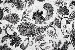 Modello indiano del cetriolo su tessuto Fotografie Stock