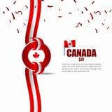Modello indipendente di vettore dell'illustrazione di progettazione di celebrazione di giorno del Canada illustrazione vettoriale
