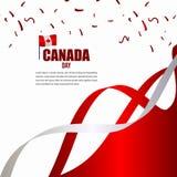 Modello indipendente di vettore dell'illustrazione di progettazione di celebrazione di giorno del Canada illustrazione di stock