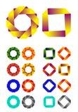Modello infinito di logo di disegno di vettore del nastro. Immagini Stock