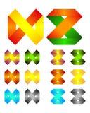 Modello infinito di logo di disegno di vettore del nastro Fotografie Stock Libere da Diritti