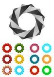 Modello infinito di logo di disegno di vettore del nastro Fotografia Stock