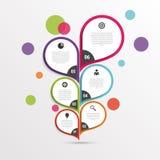 Modello infographic astratto del fiore colorful Vettore illustrazione di stock