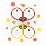 Modello infographic astratto della fioritura colorful Vettore royalty illustrazione gratis