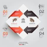 Modello infographic astratto di borsa valori. Fotografia Stock