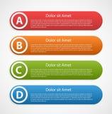 Modello infographic astratto variopinto di progettazione Immagini Stock Libere da Diritti