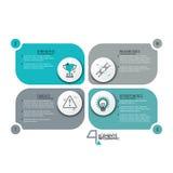 Modello infographic creativo di progettazione illustrazione vettoriale