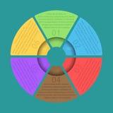 Modello infographic del cerchio Fotografia Stock