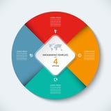 Modello infographic del cerchio di vettore Concetto di affari con 4 opzioni illustrazione vettoriale