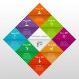Modello infographic del diamante Fotografie Stock Libere da Diritti