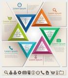 Modello infographic del grafico di affari con l'insieme di CI Fotografie Stock