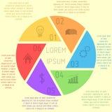 Modello infographic dell'otturatore Fotografie Stock Libere da Diritti