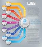 Modello infographic delle frecce Immagine Stock