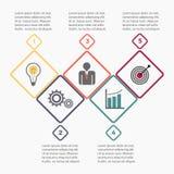 Modello infographic di affari illustrazione di stock