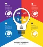 Modello infographic di affari Fotografia Stock Libera da Diritti