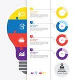 Modello infographic di affari Immagini Stock