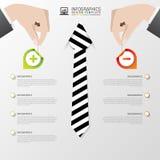 Modello infographic di affari Disegno moderno Pro - e - contro Illustrazione di vettore Fotografie Stock