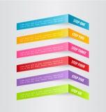 Modello infographic di affari per la presentazione, istruzione, web design, insegna, opuscolo, aletta di filatoio Fotografie Stock Libere da Diritti