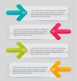 Modello infographic di affari per la presentazione, istruzione, web design, insegna, opuscolo, aletta di filatoio Immagini Stock Libere da Diritti