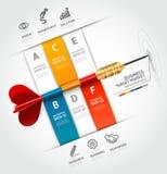 Modello infographic di concetto di affari Tum di affari Fotografie Stock Libere da Diritti