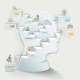 Modello infographic di concetto di affari Uomo d'affari Fotografia Stock