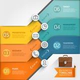 Modello infographic di cronologia Fotografia Stock Libera da Diritti