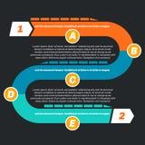 Modello infographic di cronologia, 1 - 2 illustrazione di stock
